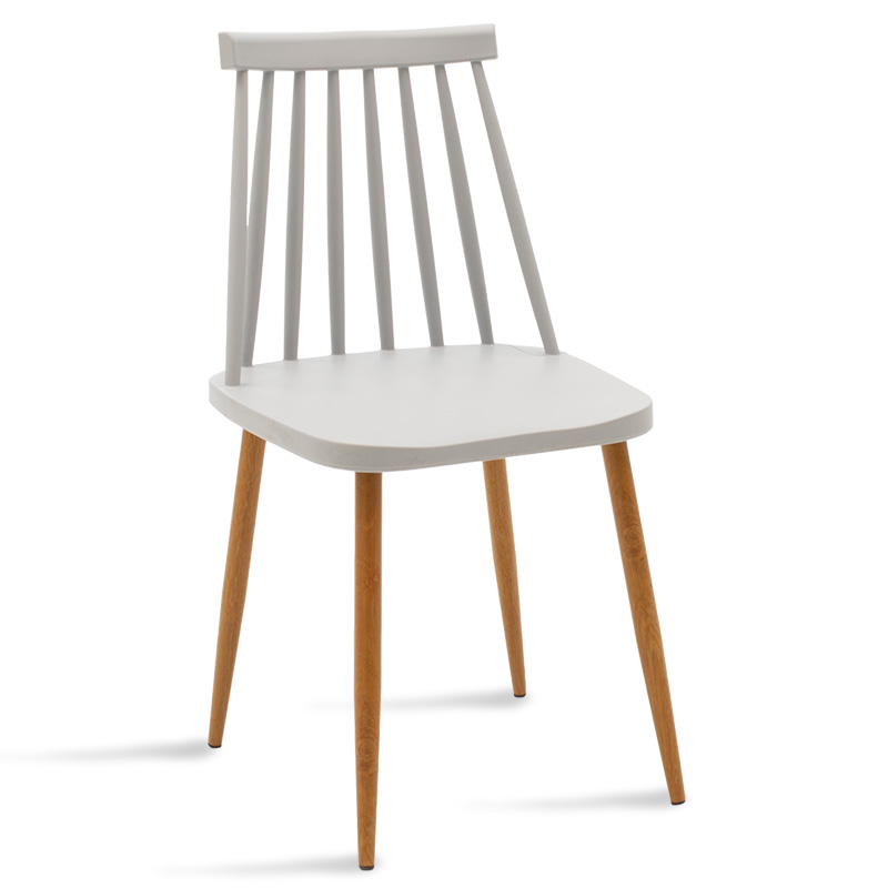 Καρέκλα Aurora Pakoworld Pp Χρώμα Γκρι - Φυσικό