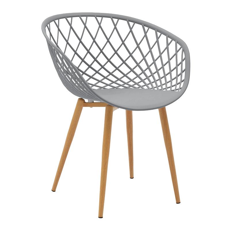 Καρέκλα Ezra Pakoworld Pp Χρώμα Γκρι - Φυσικό