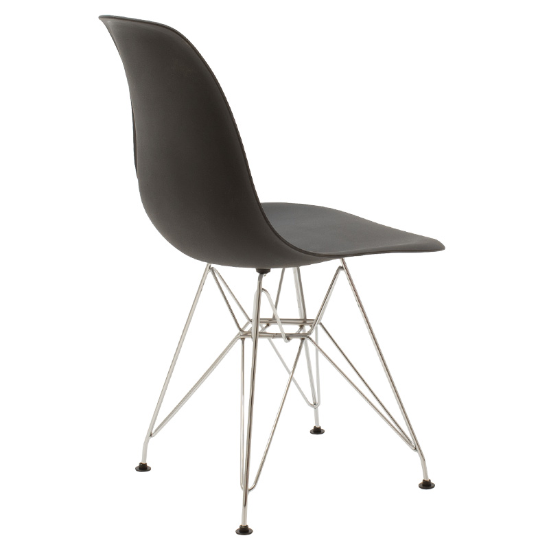 Καρέκλα Adelle Pakoworld Pp Χρώμα Μαύρο - Inox