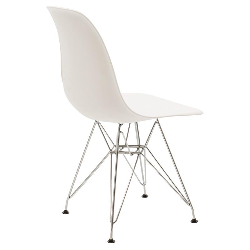 Καρέκλα Adelle Pakoworld Pp Χρώμα Λευκό - Inox