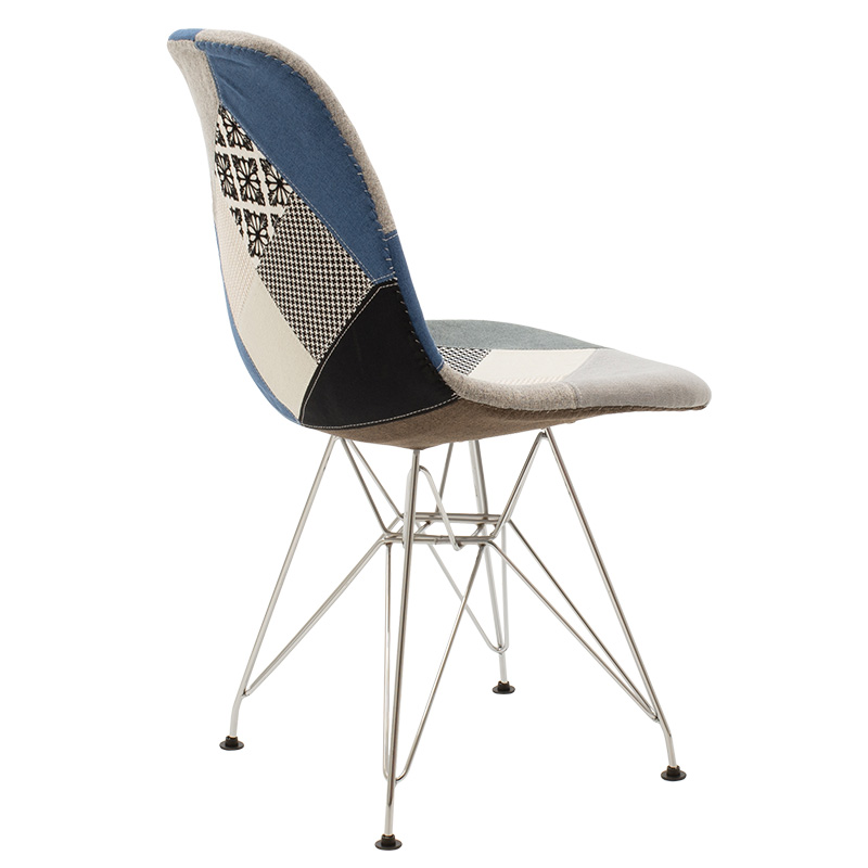 Καρέκλα Adelle Pakoworld Pp Χρώμα Patchwork - Inox