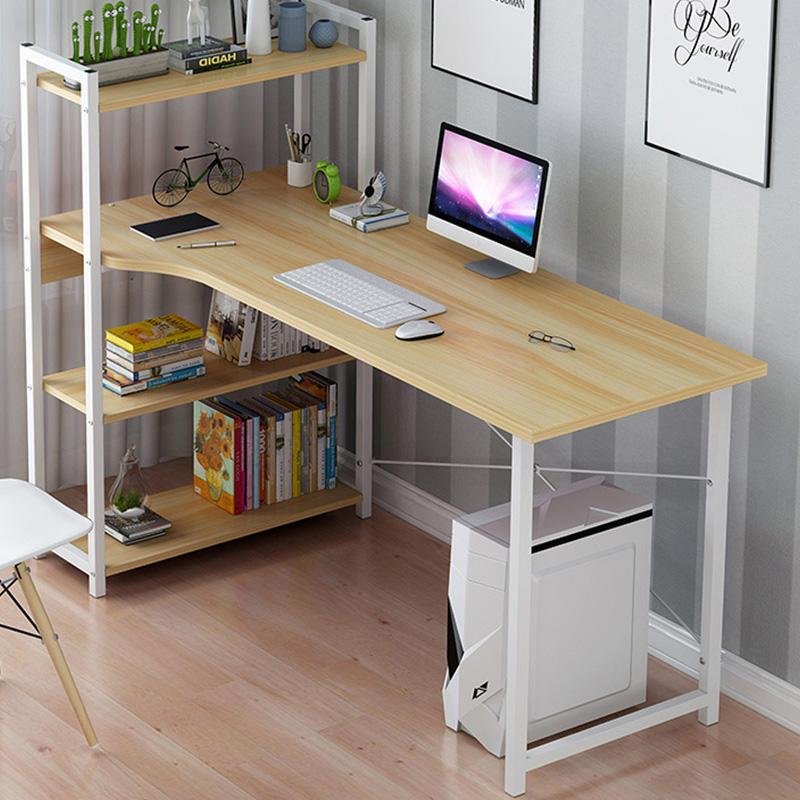 Γραφείο Kadyn Pakoworld Αριστερή Ραφιέρα Oak-Λευκό 120X48X73,5/111Εκ