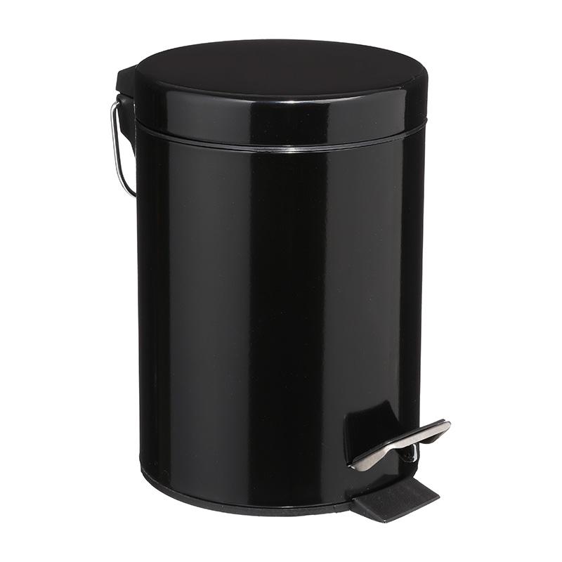 Κάδος Απορριμμάτων 3L Dustbin Pakoworld Μέταλλο-Pp Μαύρο