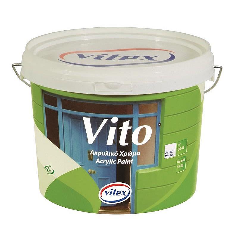 Vito ακρυλικό χρώμα λευκό Vitex 3L