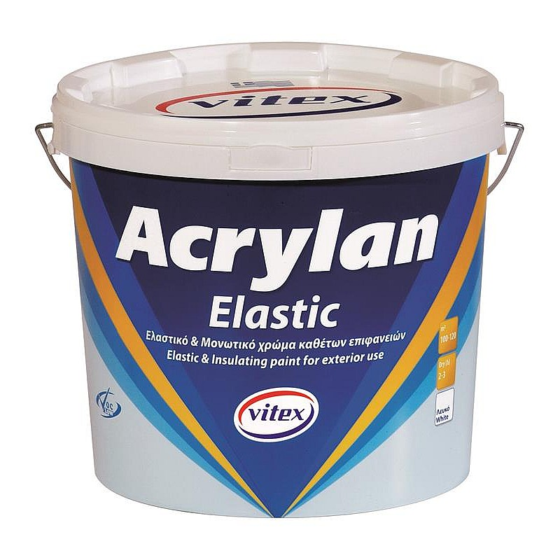 Acrylan elastic μονωτικό χρώμα Vitex 3L