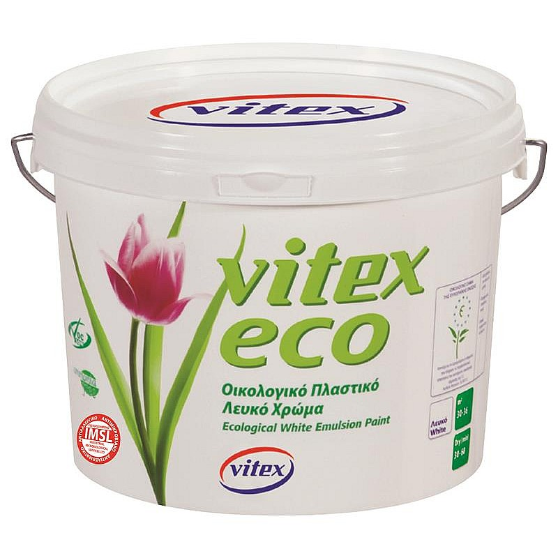 Vitex eco πλαστικό χρώμα λευκό Vitex 3L