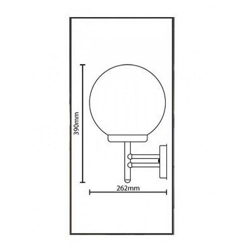 Φωτιστικό τοίχου εξωτερικού χώρου inox E27 7290510
