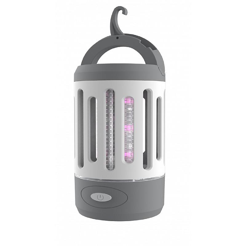 Φανάρι εντομοκτόνο με φακό & USB, 70x70x135mm Velco 10-34740