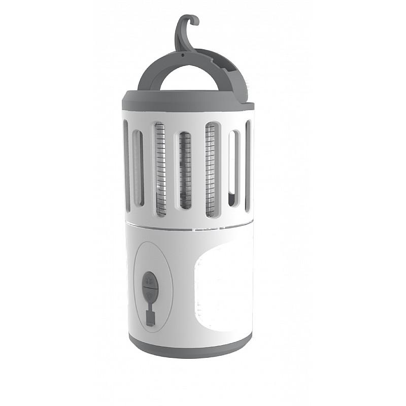 Φανάρι εντομοκτόνο με φακό & USB, 70x70x200mm Velco 10-34757