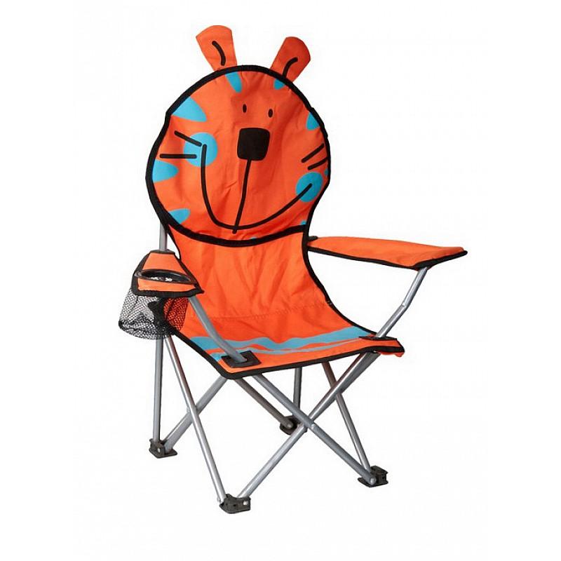 Πολυθρόνα παιδική πορτοκαλί μεταλλική polyester 600D Campus 153-4115-2