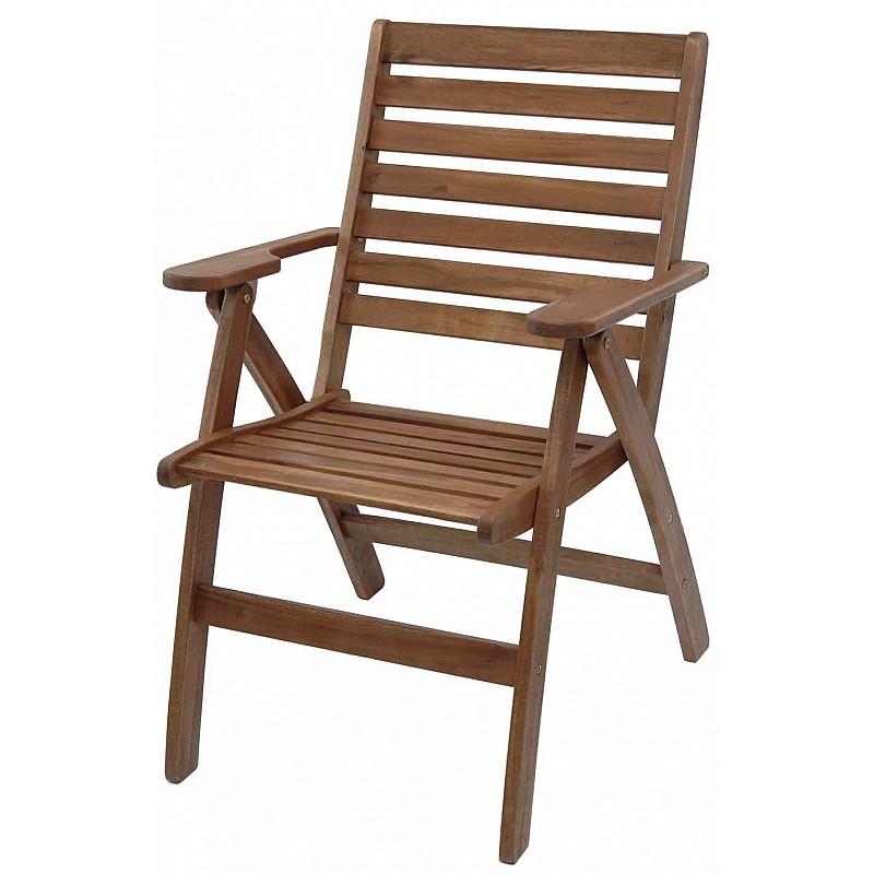 Καρέκλα ξύλινη πτυσσόμενη με μπράτσα 3 θέσεων RED SHOREA Velco 187-4131