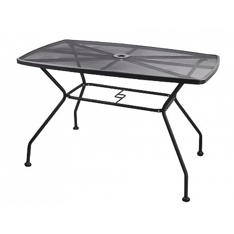 Τραπέζι ανθρακί μεταλλικό διάτριτο 115x70x73εκ. Velco 189-1657