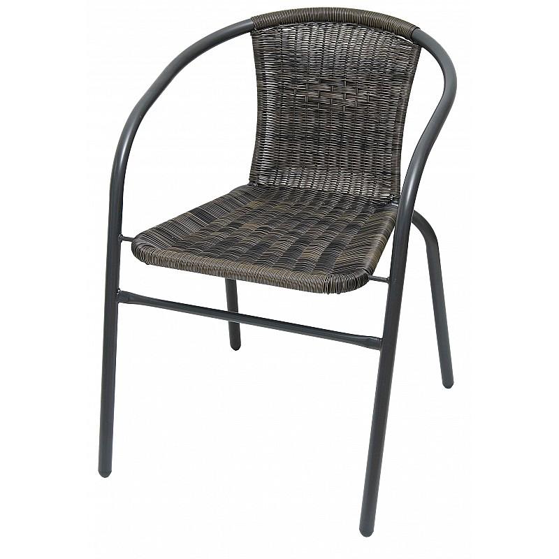 Καρέκλα μεταλλική κήπου 53x65x72cm ανθρακί Velco 189-9457
