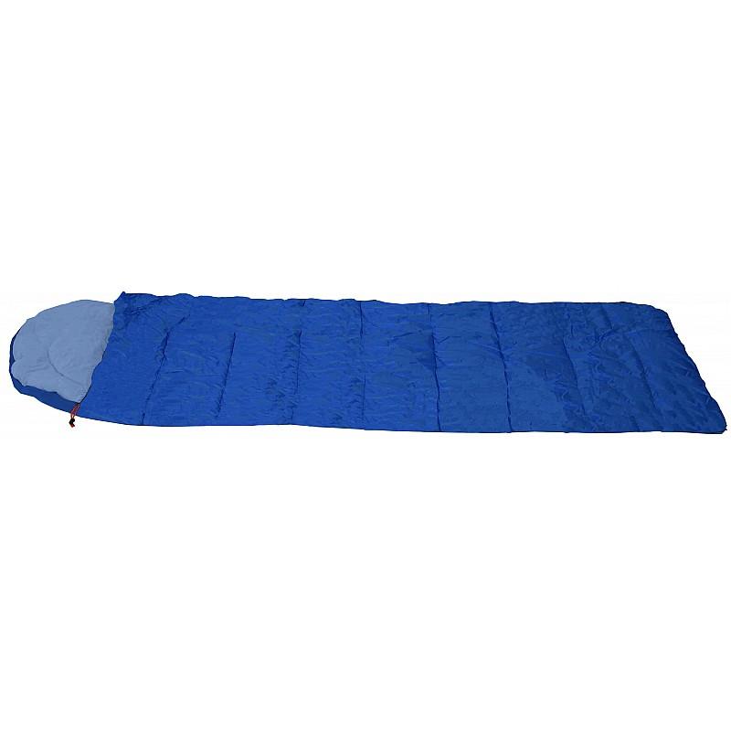 Υπνόσακος FUEGO μπλε με μαξιλάρι & θήκη συμπίεσης 220Χ75ΕΚ.,2Χ75γρ/m2 Campus 210-0522-1