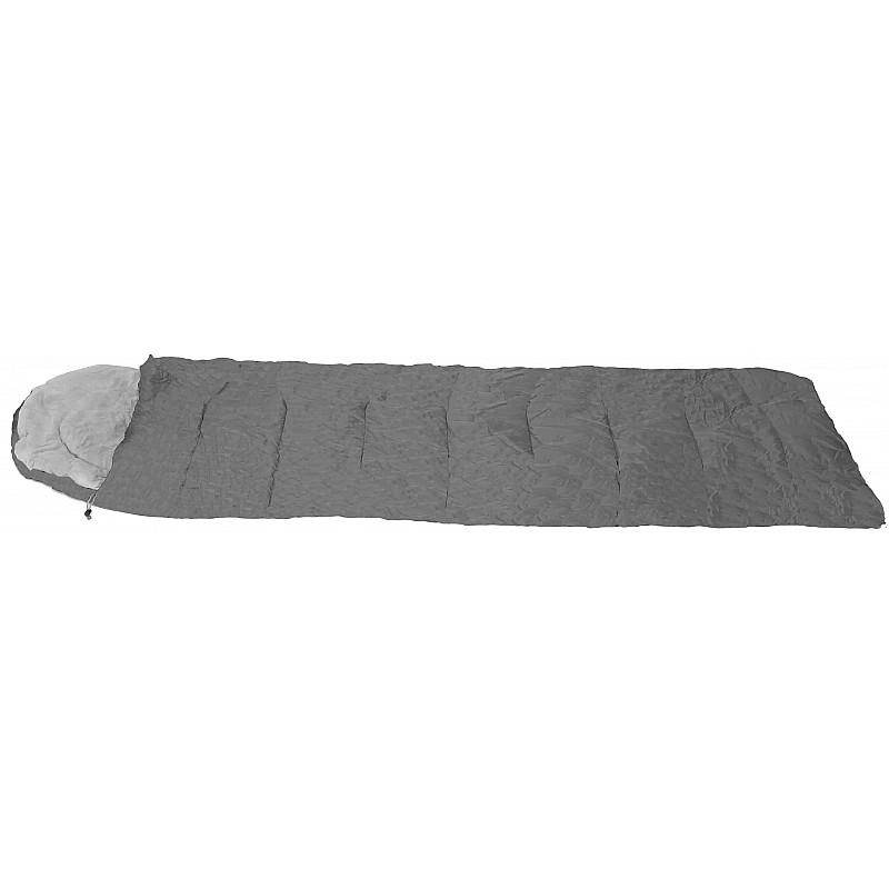 Υπνόσακος FUEGO γκρι με μαξιλάρι & θήκη συμπίεσης 220Χ75ΕΚ.,2Χ75ΓΡ/Μ2 Campus 210-0522-10