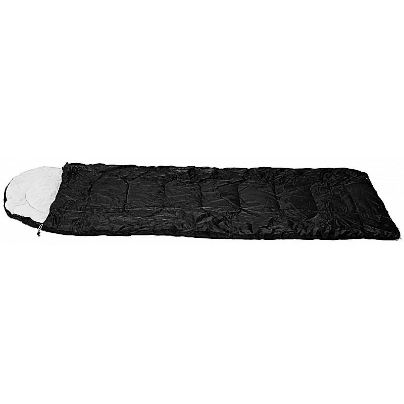 Υπνόσακος FUEGO μαύρο με μαξιλάρι & θήκη συμπίεσης 220Χ75ΕΚ.,2Χ75ΓΡ/Μ2 Campus 210-0522-14