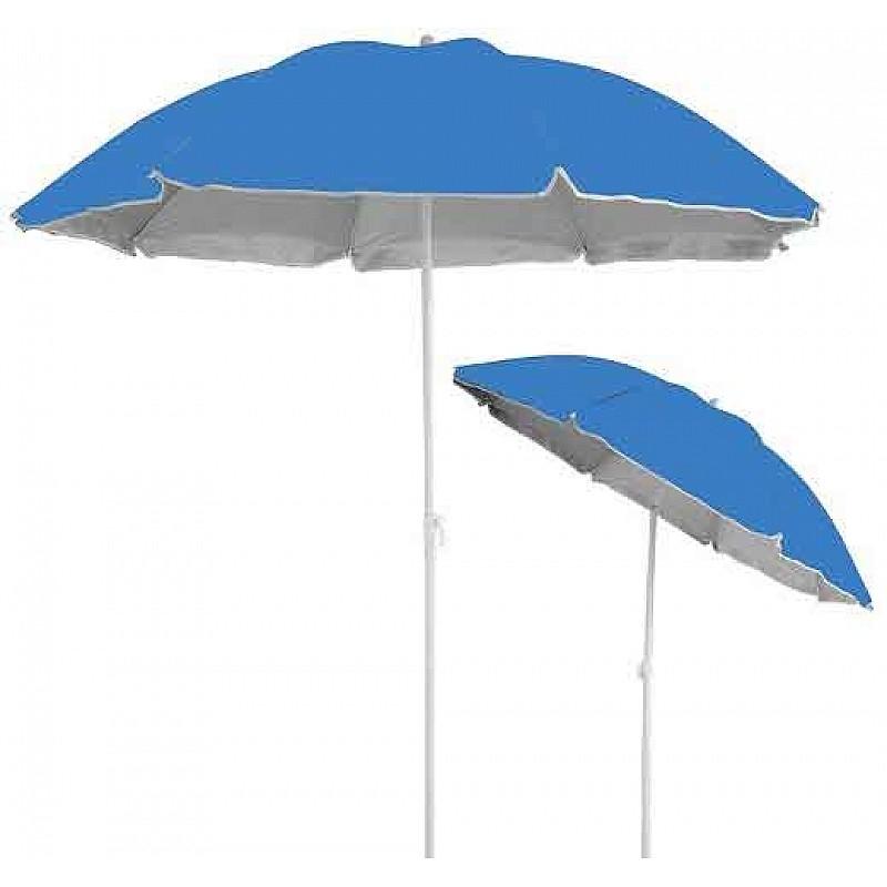Ομπρέλα βεράντας- κήπου-θαλάσσης μπλε1,8m μεταλλική Campus 371-0872-1