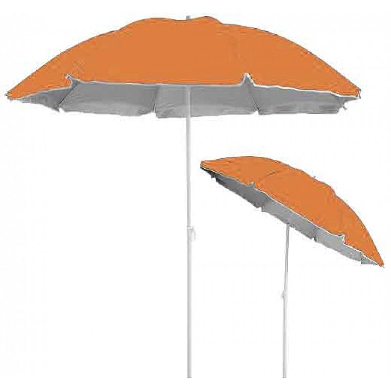 Ομπρέλα βεράντας- κήπου-θαλάσσης πορτοκαλί 1,8m μεταλλική Campus 371-0872-2