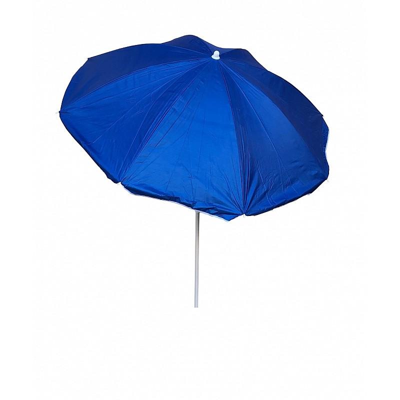Ομπρέλα βεράντας-κήπου-θαλάσσης μπλε με ασημί επίστρωση 1,8m  μεταλλική Campus 371-4252-1