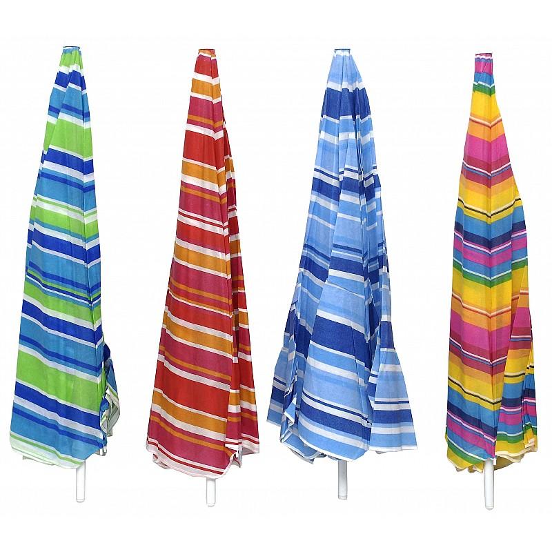 Ομπρέλα βεράντας-κήπου-θαλάσσης 2m ριγέ σε διάφορα χρώματα μεταλλική Campus 371-6600-19