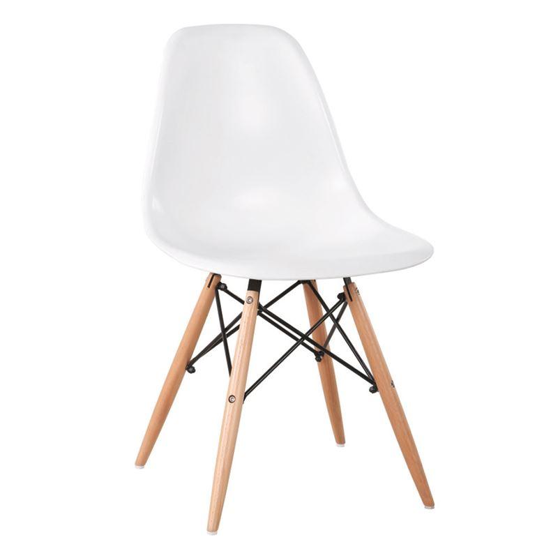 ART Wood Καρέκλα Ξύλο / PP Άσπρο