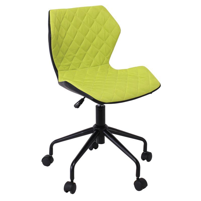 DAVID καρέκλα γραφείου PU Μαύρο/Υφασμα Λαχανί