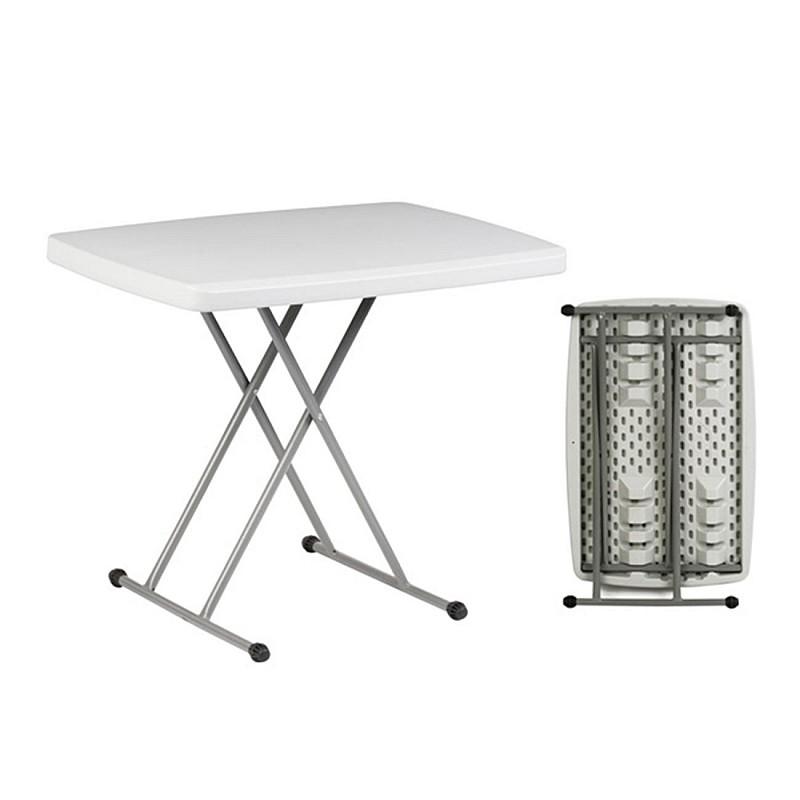 BLOW τραπέζι Catering Πτυσσόμενο Άσπρο/Ρυθμ.ύψους