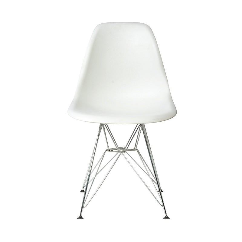ART Καρέκλα Τραπεζαρίας Κουζίνας Μέταλλο Χρώμιο - PP Άσπρο