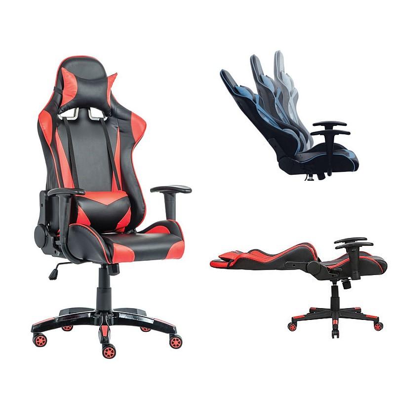 BF8050 Gaming πολυθρόνα δ/ντή Pu Μαύρο/Κόκκινο