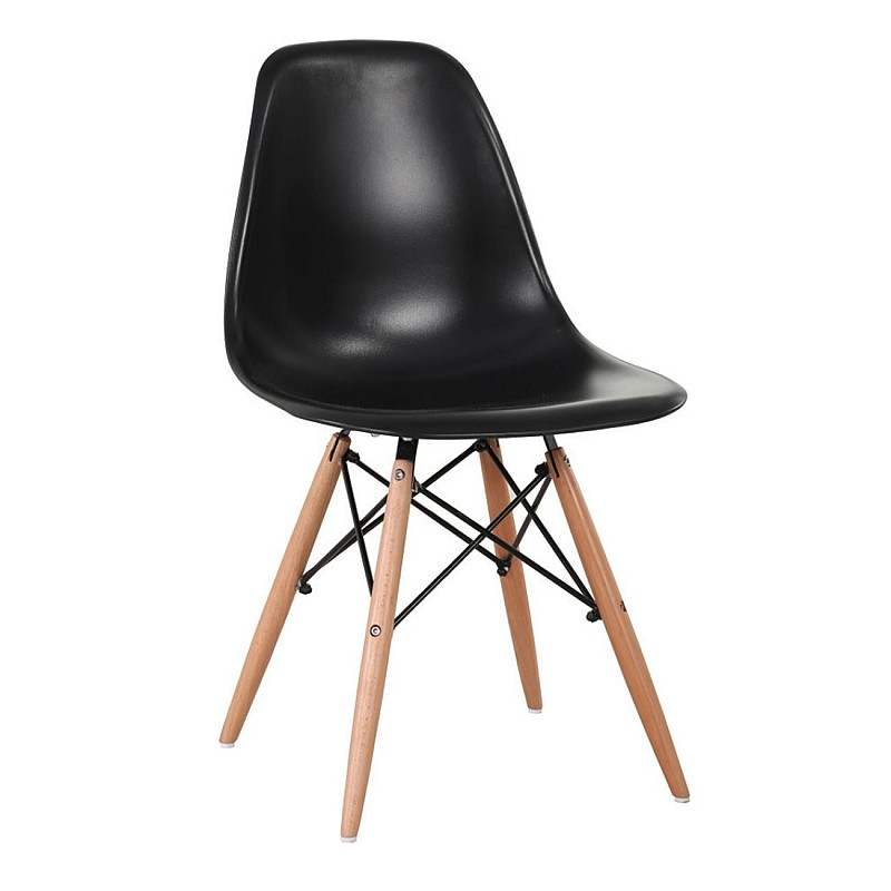 ART Wood Kαρέκλα Ξύλο / PP Μαύρο