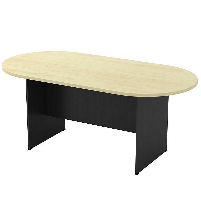 ΣΥΝΕΔΡΙΟΥ-A Τραπέζι Οβάλ Dark Grey/Beech