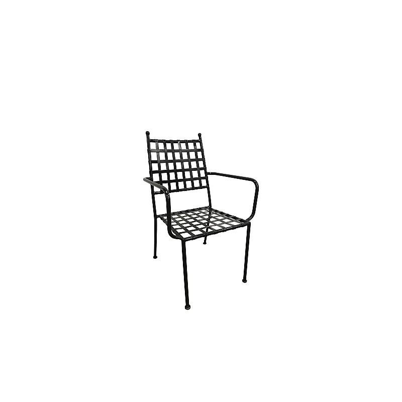 PATON Πολυθρόνα Κήπου Βεράντας / Μέταλλο Βαφή Μαύρο Mesh