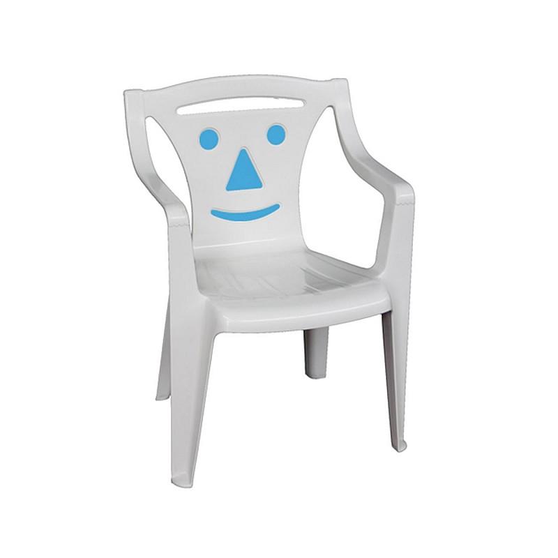 BIMBO Πολυθρονάκι Παιδικό Πλαστικό Άσπρο / Blue smile