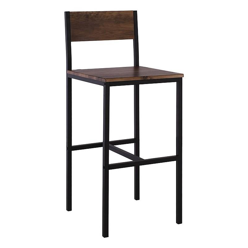 STAB Σκαμπώ BAR Μέταλλο Βαφή Ανθρακί / Antique Brown - Ύψος καθισματος 67 cm