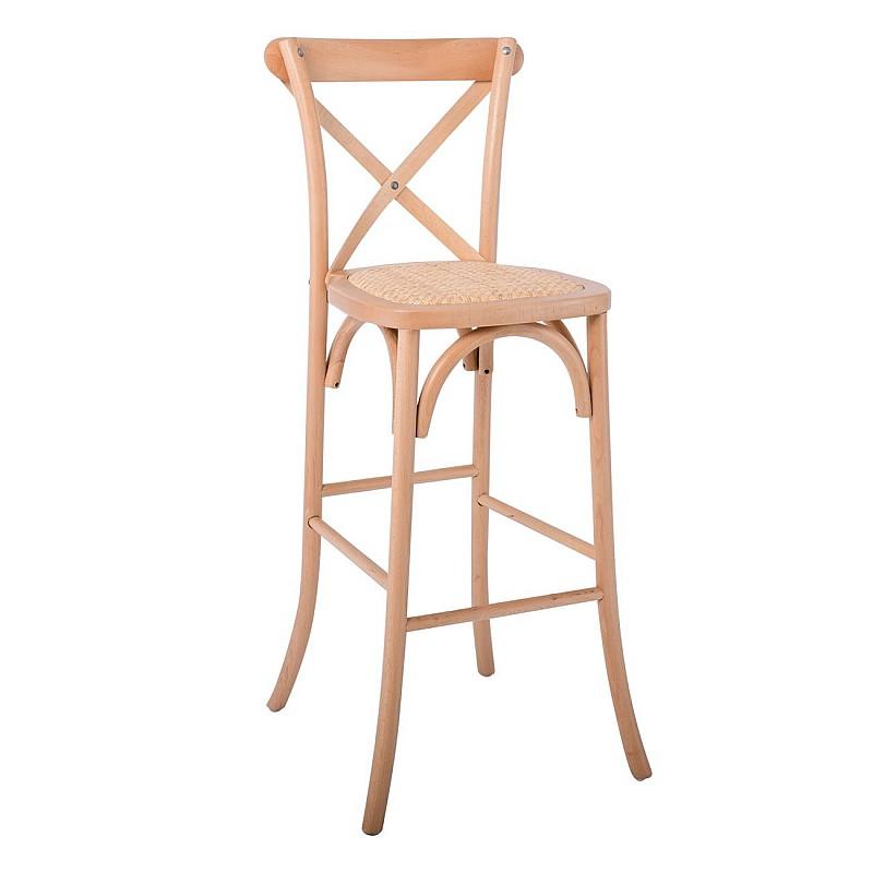 DESTINY Σκαμπώ Bar Οξυά Φυσικό / Κάθισμα Ψάθα