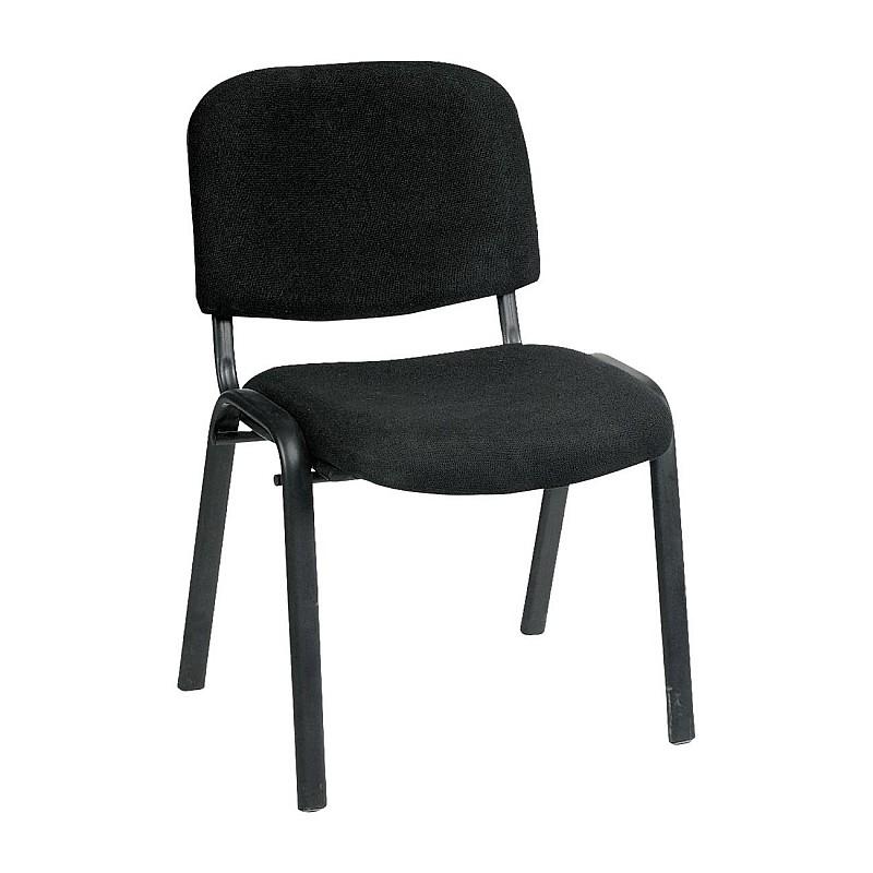 SIGMA Καρέκλα Στοιβαζόμενη Γραφείου - Επισκέπτη Μέταλλο Μαύρο / Ύφασμα Μαύρο