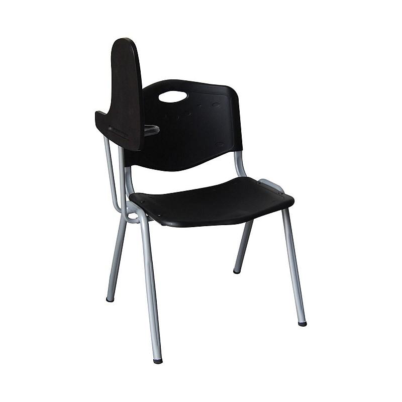STUDY Καρέκλα-Θρανίο Μέταλλο Βαφή Silver / PP Μαύρο