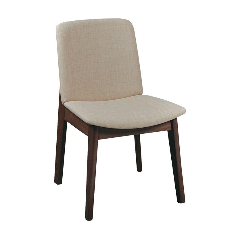 EMMA Καρέκλα Οξυά Καρυδί  / Ύφασμα Μπεζ
