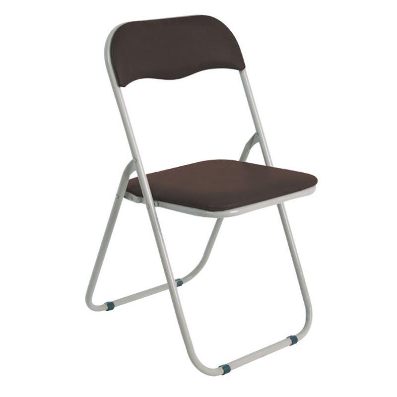 LINDA Καρέκλα Πτυσσόμενη Βαφή Γκρι/Pvc Καφέ