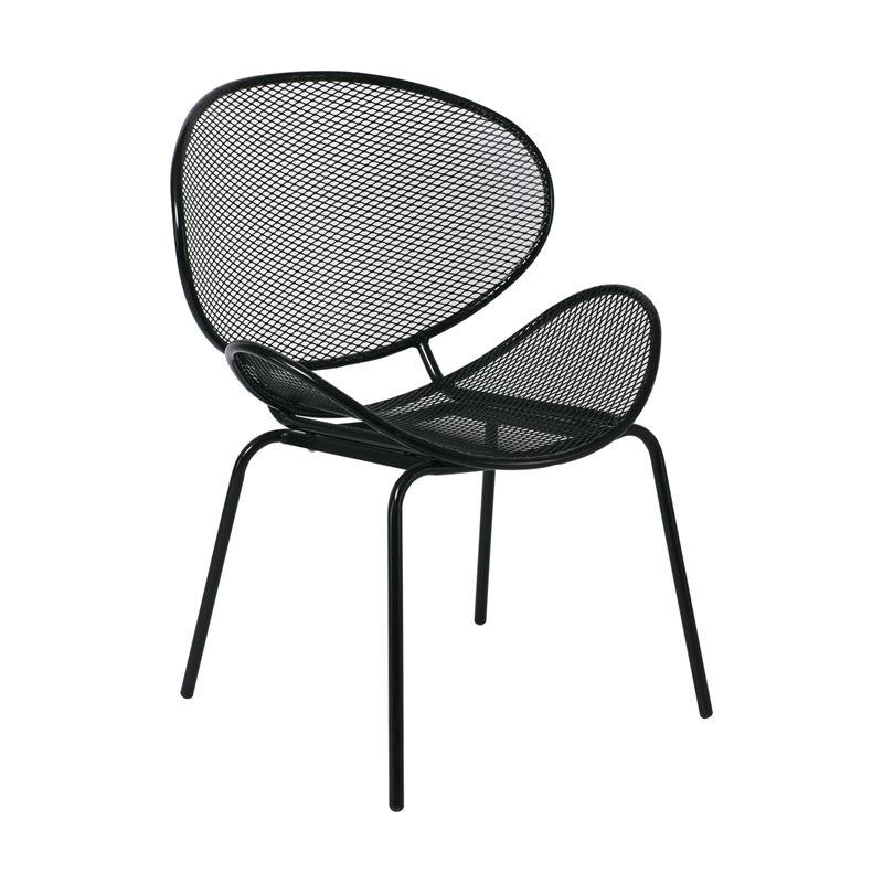 OLIVER Καρέκλα K/D Κήπου Βεράντας / Μέταλλο Βαφή Μαύρο