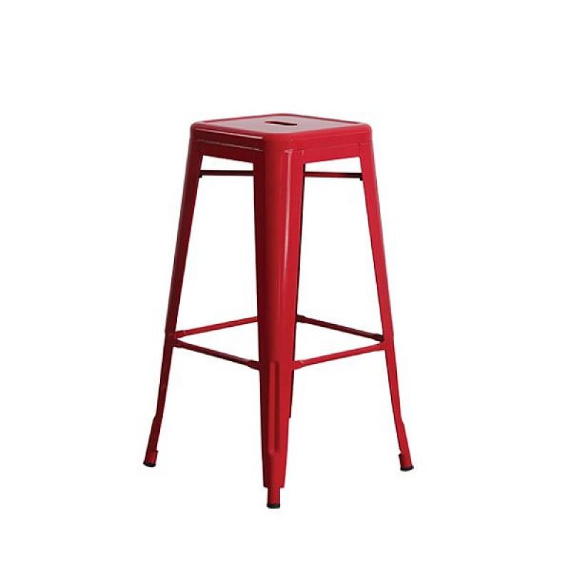 RELIX Σκαμπώ Bar Μεταλλικό Κόκκινο