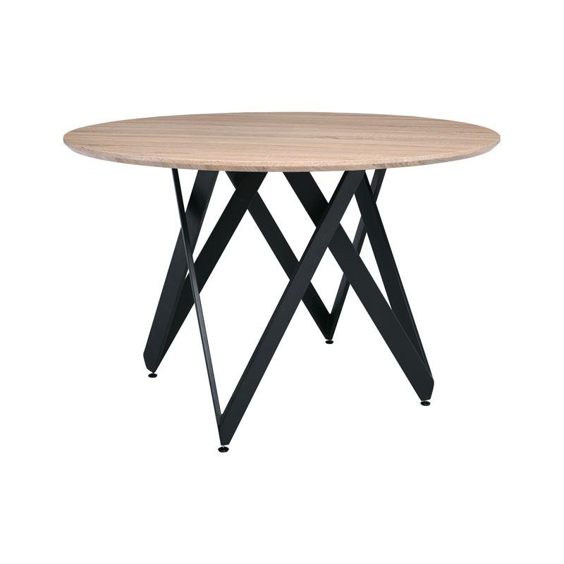 ROD Τραπέζι Τραπεζαρίας - Κουζίνας / Steel Μαύρο - Sonoma